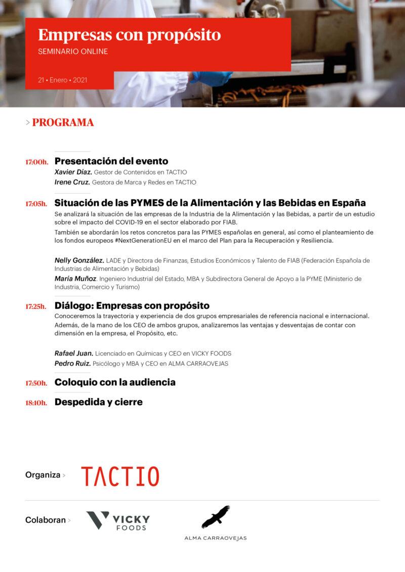 Programa webinar Empresas con Propósito 2